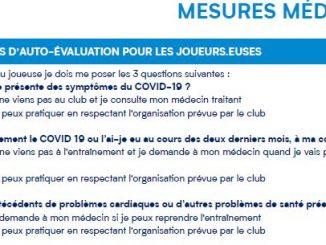 Mesures sanitaires auto-évaluation